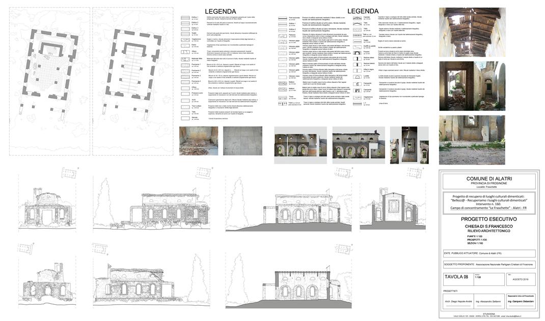 08 – Pianta e sez architettoniche chiesa